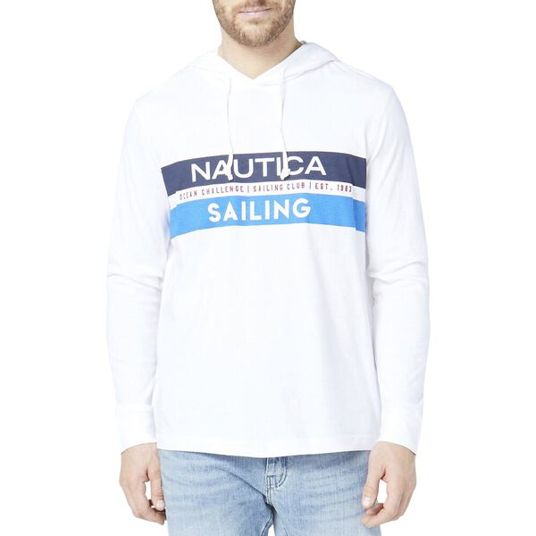 Graphic Sailing Print Long Sleeve T-Shirt Hoodie