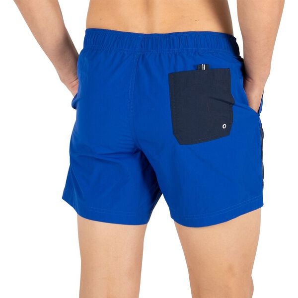 "Diagonal N83 6"" Swim Shorts, Cobalt Blue, hi-res"