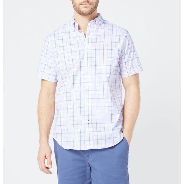 Classic Fit Wrinkle Resistant Plaid Shirt Purple, Lavendula, hi-res