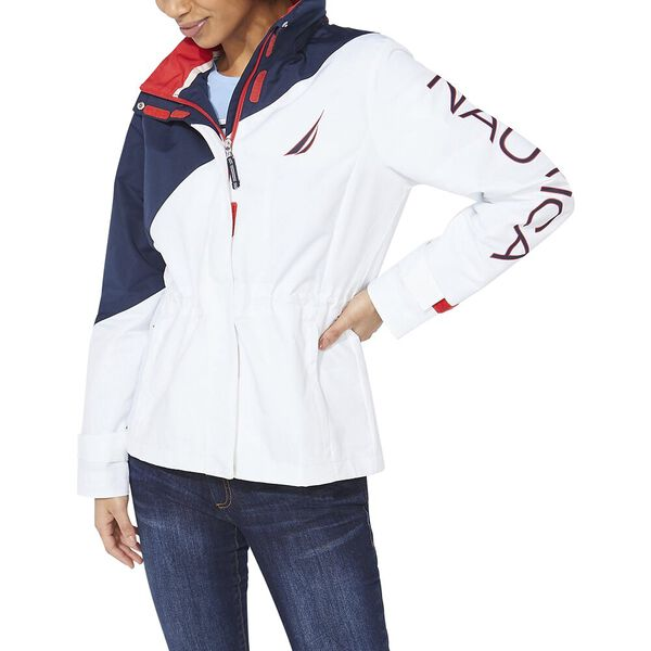 Diagonal Colourblock J. Class Jacket, Bright White, hi-res