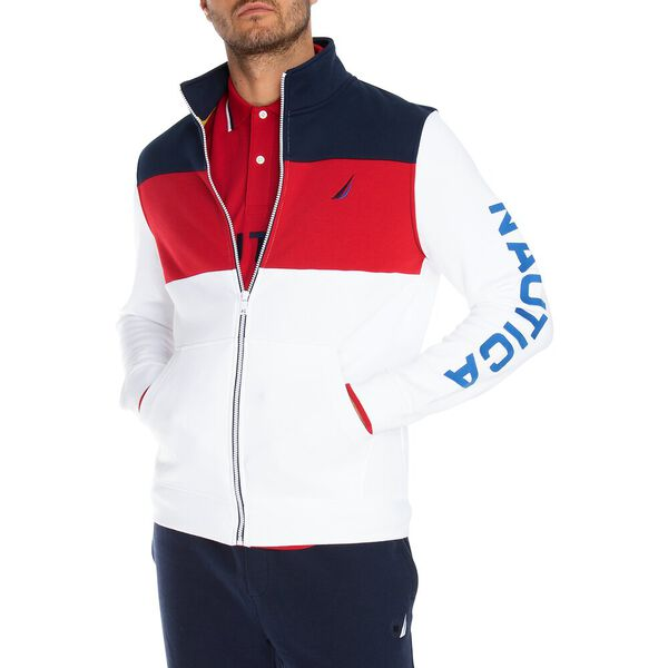 FULL ZIP COLOUR BLOCK TRACK JACKET