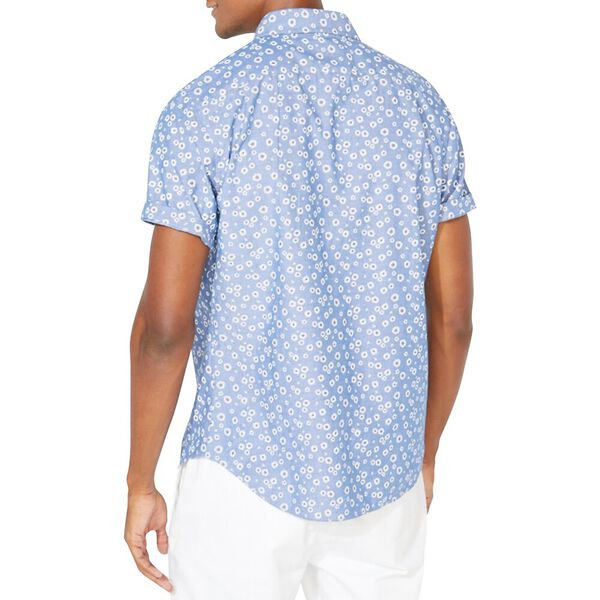 Classic Fit Floral Print Chambray Shirt, Limoges, hi-res
