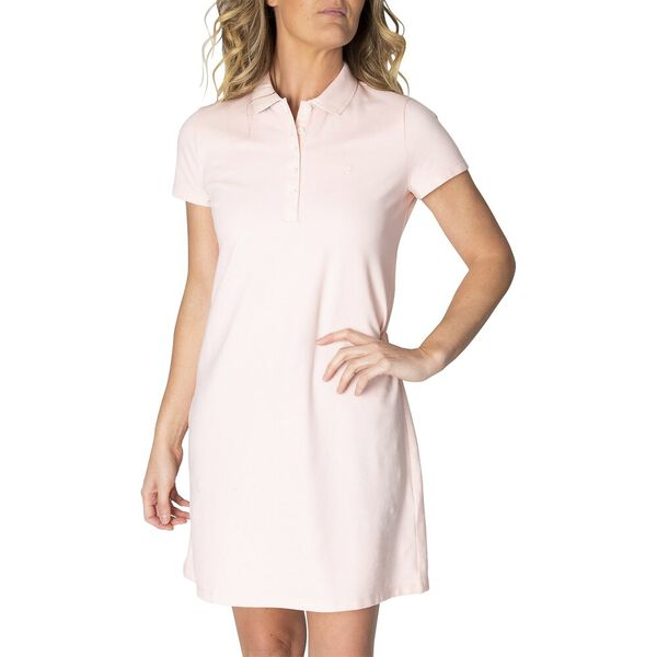 Above Knee Laura Chambray Collar Polo Dress