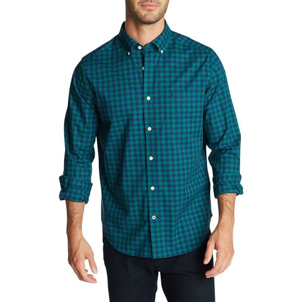 Classic Fit Long Sleeve Wrinkle Resistant Gingham Shirt