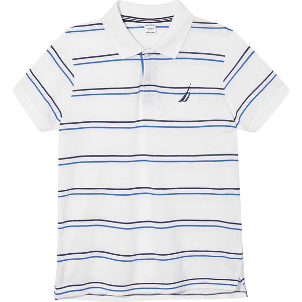 Boys 8 - 14 Ashville Polo Shirt, White, hi-res