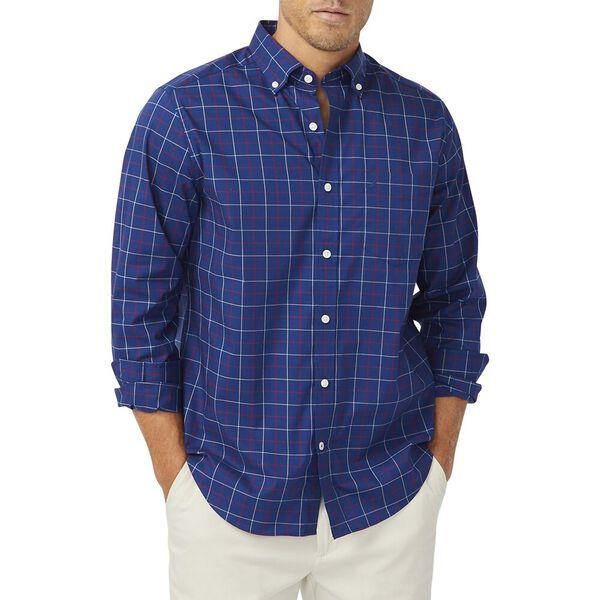Navtech Red Accent Poplin Shirt, Blue Depths, hi-res