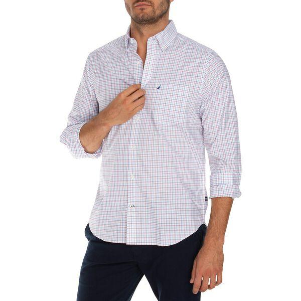 Classic Fit Wrinkle Resistant Plaid Shirt, Bright White, hi-res