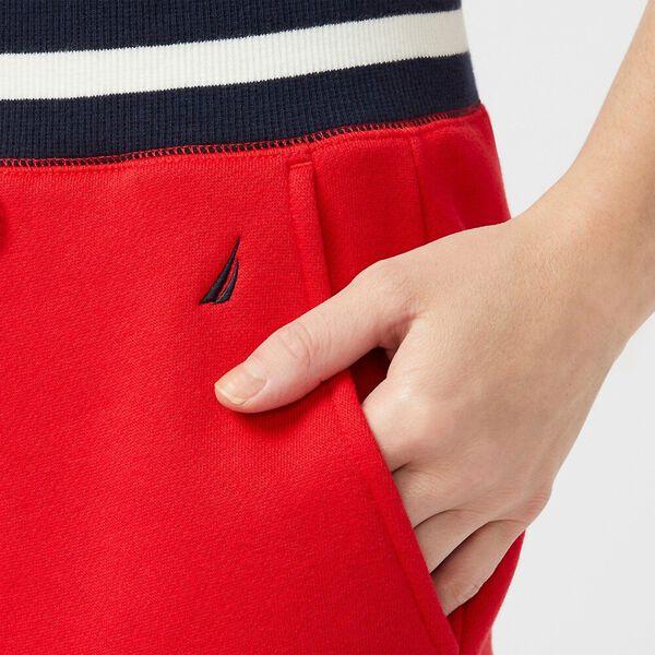 Banded Stripe Track Pants, Bright Red, hi-res