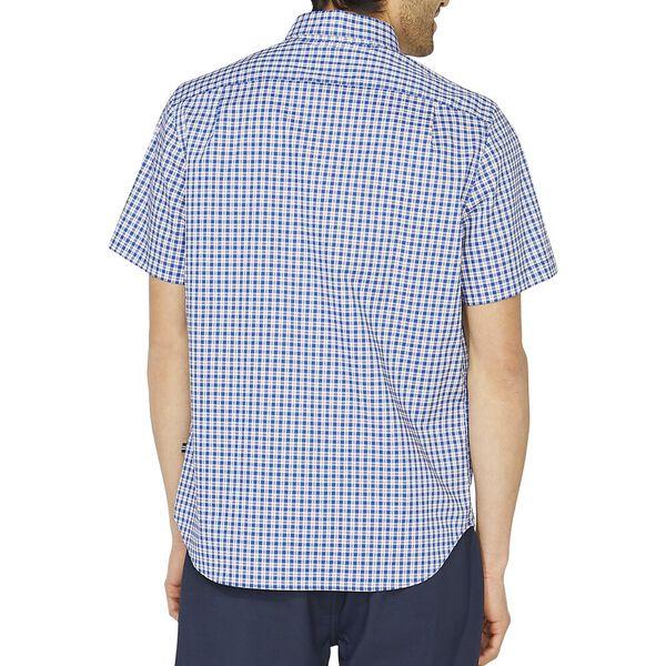 Classic Fit Wrinkle Resistant Plaid Shirt, Windsurf Blue, hi-res