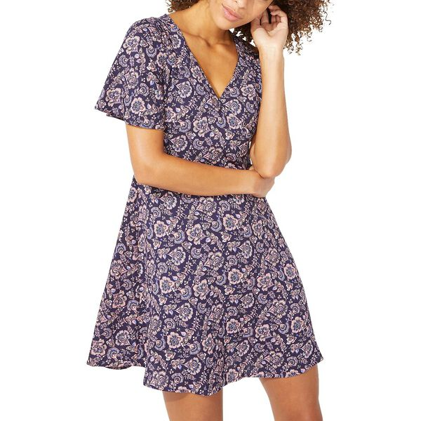 SURFLINE PAISLEY FIT AND FLARE DRESS