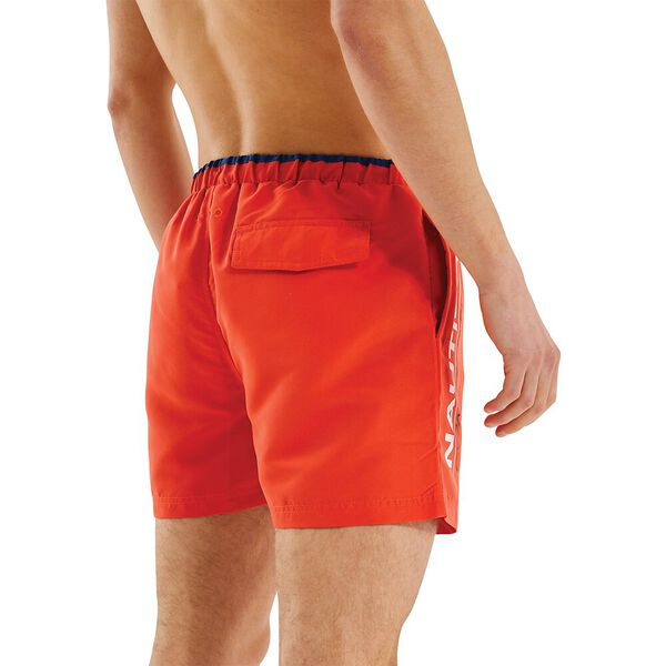 Nautica Competition Dunsel Swim Shorts, Red, hi-res