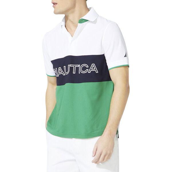Classic Fit Essential Colourblock Polo, Bright White, hi-res
