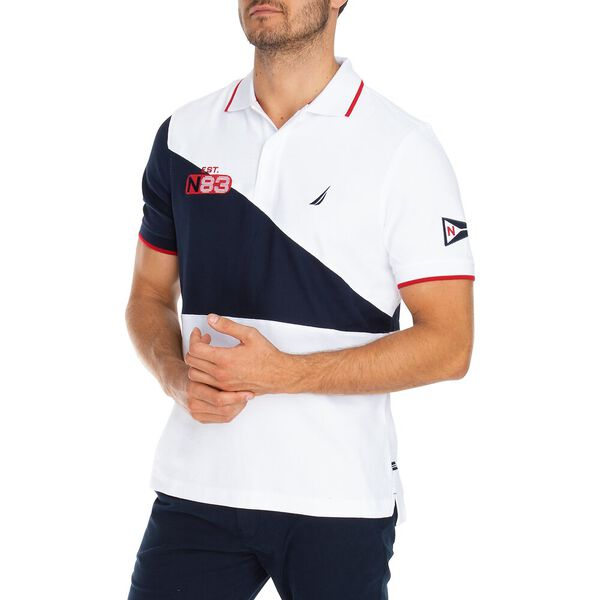 Splice It Up Polo, Bright White, hi-res