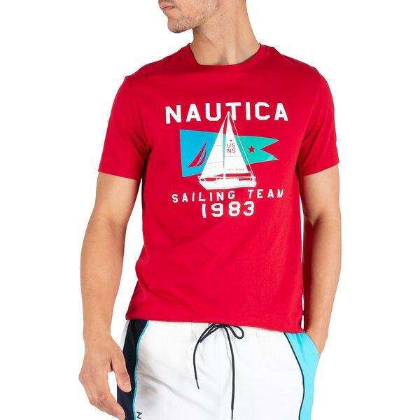 Sail Flag Icon Tee, Nautica Red, hi-res