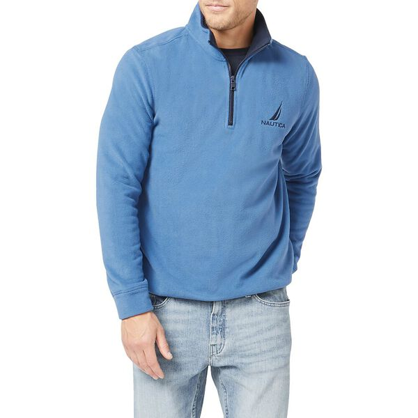 Nautex Pop Collar Half Zip Fleece, Windsurf Blue, hi-res