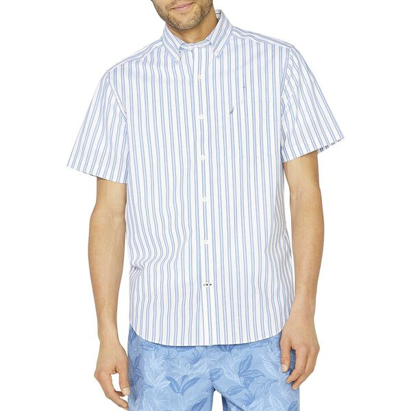 Classic Fit Stripe Essential Shirt, Bright White, hi-res