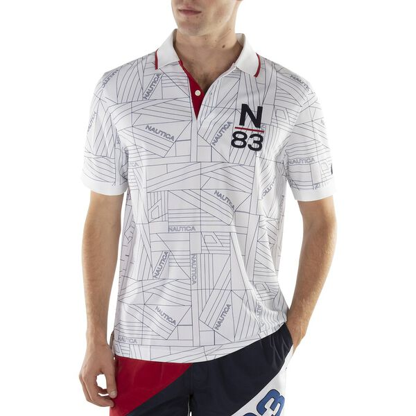 CLASSIC FIT PRINTED N-83 PERFORMANCE POLO