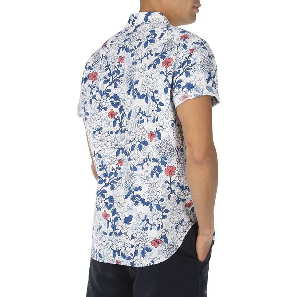 Classic Fit Navtech Island Inspired Shirt, Bright White, hi-res