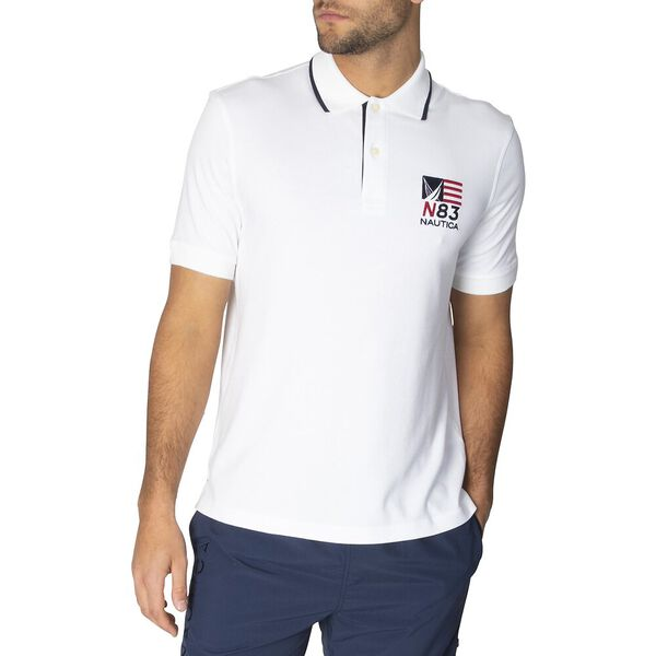N83 Varisty Polo, Bright White, hi-res