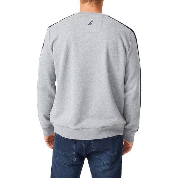 Vintage Fit Nautica Logo Crew Neck Sweater, Stone Grey Heather, hi-res