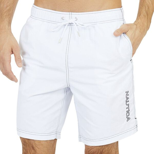 18' Logo Heritage Quick-Dry Swims, Bright White, hi-res