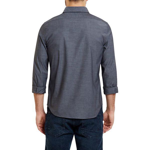 Classic Fit Wrinkle Resistant Solid Colour Shirt, True Black, hi-res