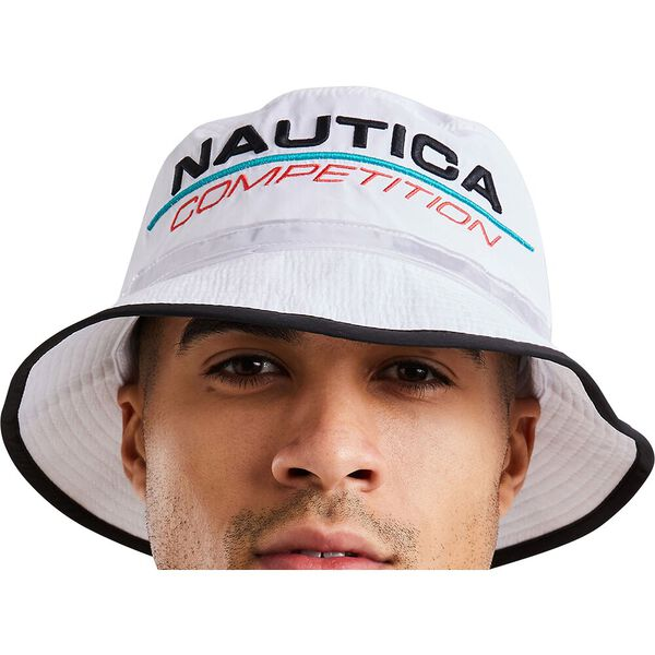Nautica Competition Mack Bucket Hat, White, hi-res