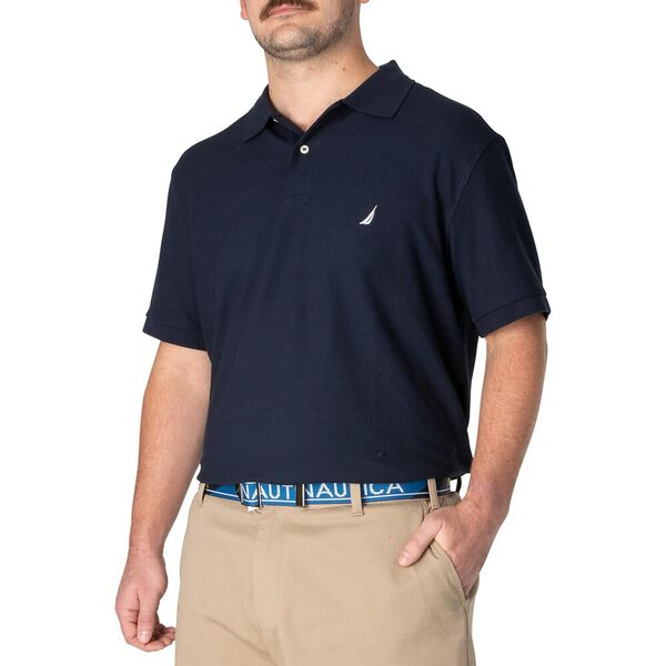 Big & Tall Short Sleeve Deck Polo, Navy, hi-res
