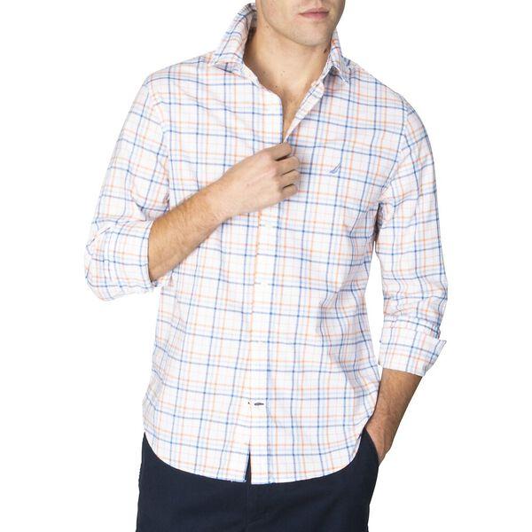 Navtech Slim Fit Plaid Long Sleeve Shirt, Bright White, hi-res