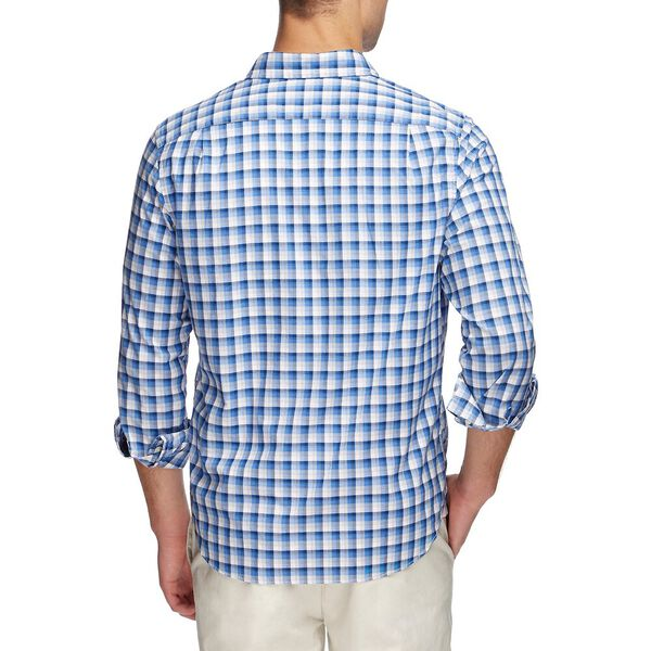 Vintage Plaid Long Sleeve Shirt, Regatta, hi-res