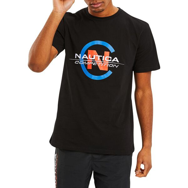 NAUTICA COMPETITION BEACON TEE, TRUE BLACK, hi-res