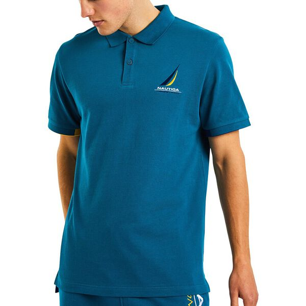 Nautica Competition Coble Polo, Teal Tides, hi-res
