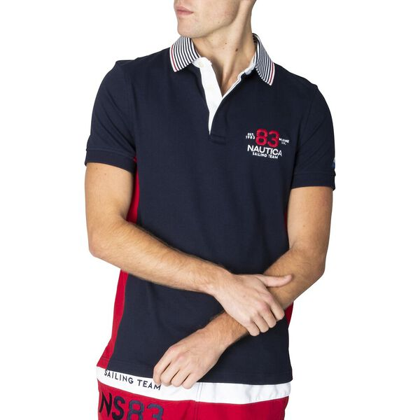 Slim Fit N83 Sailing Team Polo, Navy, hi-res