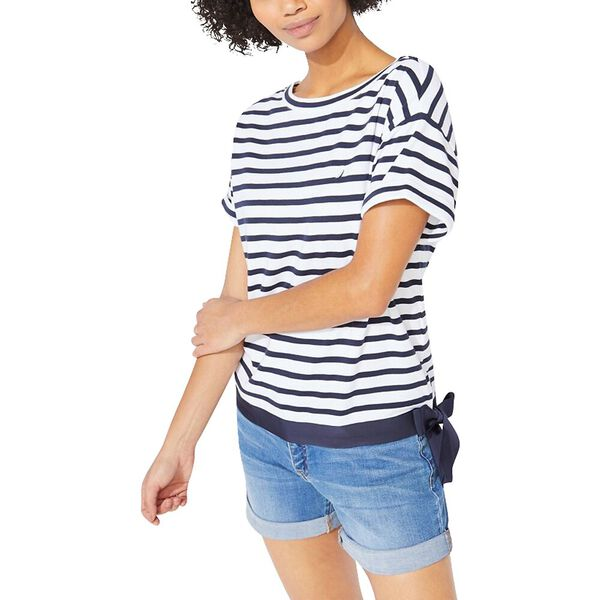 Stripe Tie Waist Sophia Knit Top