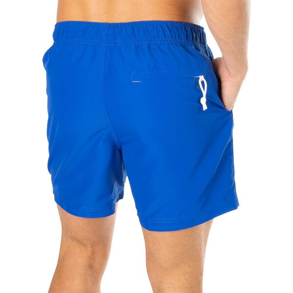 Sustainably Crafted Packable Swim Shorts, Cobalt Blue, hi-res