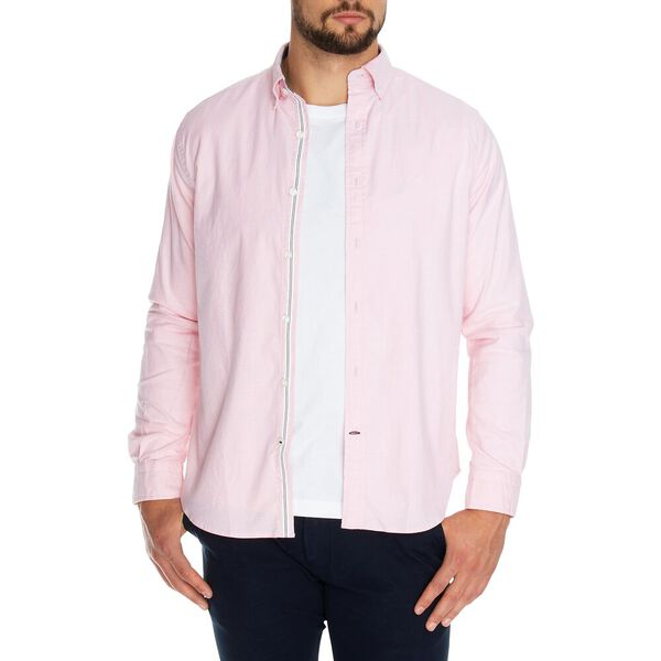 Blue Sail Long Sleeve Solid Oxford Shirt, Orchid Pink, hi-res