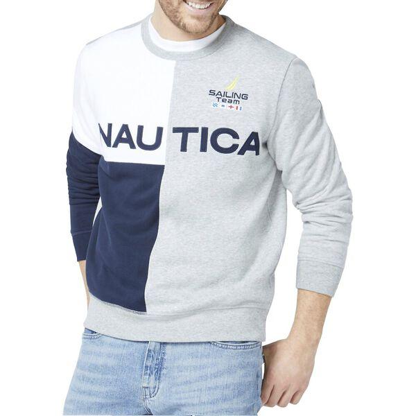 Blocked Logo Crew Sweater