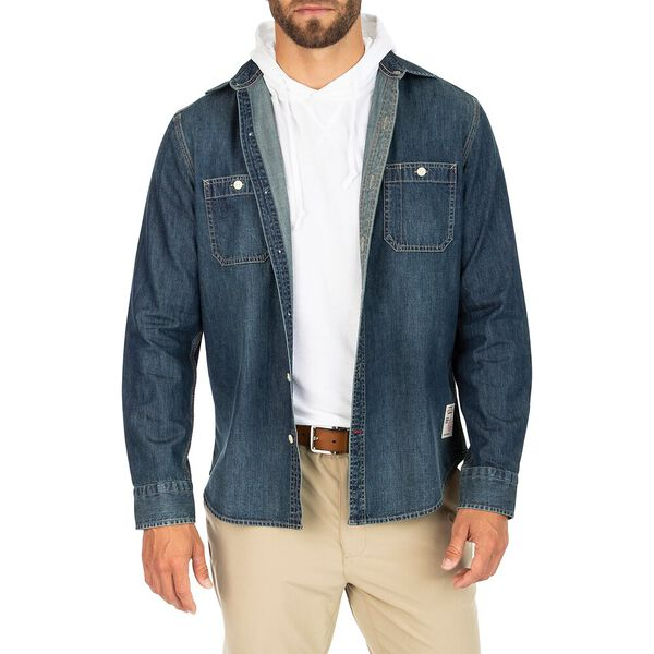 Nautica Jeans Co. Denim Shirt, Seaside Dark Wash, hi-res
