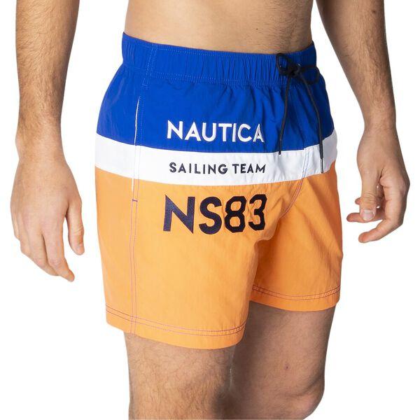 Join The Crew Elasticated Waist Swim Shorts, Nectarine, hi-res