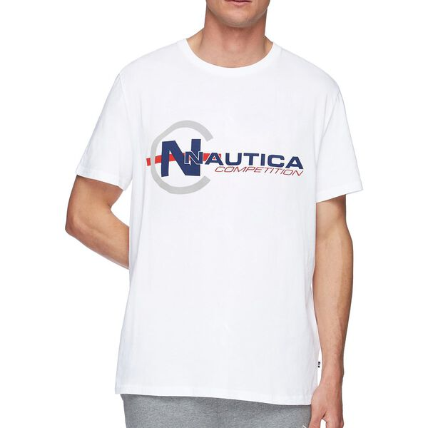 NAUTICA COMPETITION FOOTACTION POP GRAPHIC TEE, BRIGHT WHITE, hi-res