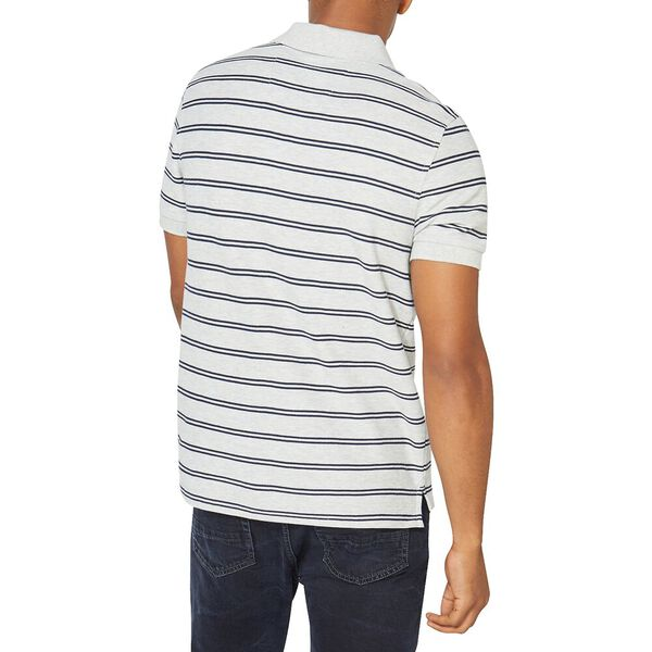 Performance Classic Fit Stripe Deck Polo, Grey Heather, hi-res