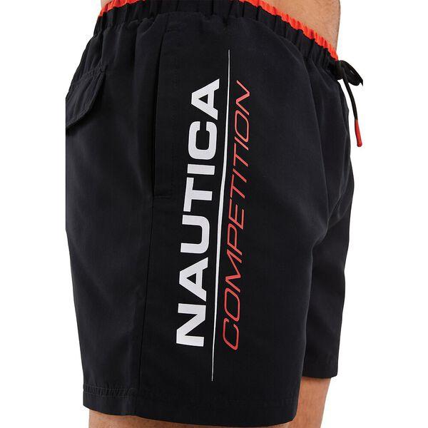Nautica Competition Dunsel Swim Shorts, Black, hi-res