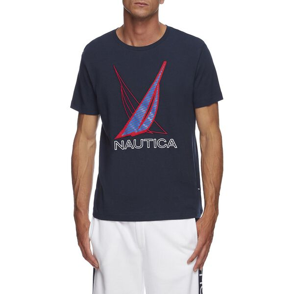 J CLASS SHADOW GRAPHIC TEE, NAVY, hi-res