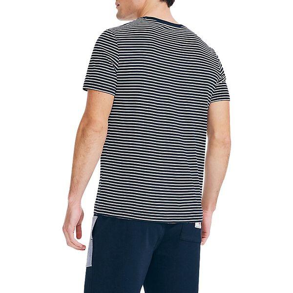 Narrow Stripe Tee, Navy, hi-res