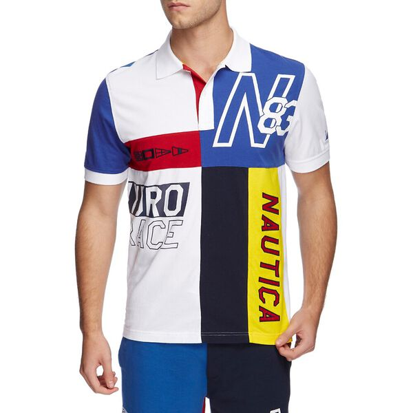 BLUE SAIL HYDRO RACE PIECED POLO