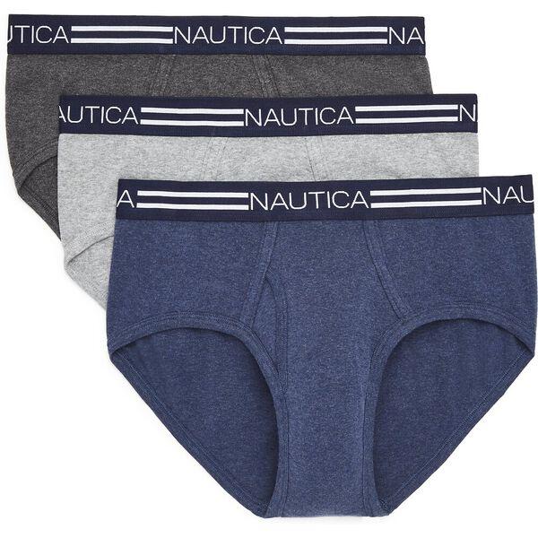 Nautica Mens 3 Pack Tri-Colour Briefs, Multi, hi-res